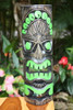 "Jungle green Tiki Mask 20"" - Carved/Painted 