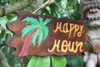 """Tiki Bar """"Happy Hour"""" Driftwood Sign 20"""" - Tropical Accents   #dpt5274"""