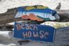 "Beach House Sign 15"" w/ Bass - Decorative Lake Sign   #dpt521640"