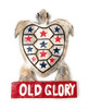 """Wooden Turtle """"Old Glory"""" 14 inch - Americana Decor 