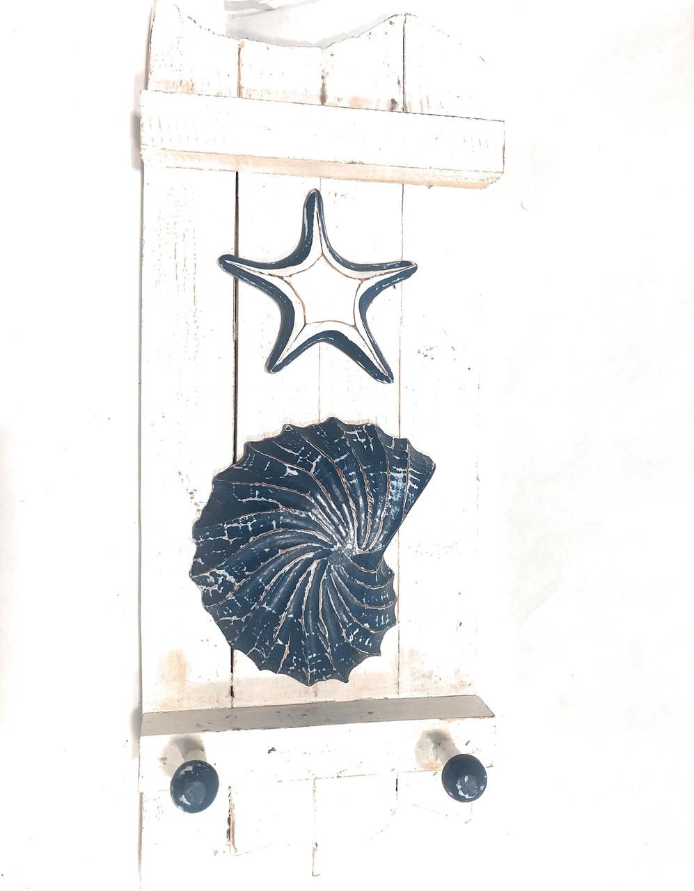 Hanger On Slats 20 W Fish Starfish Nautical Decor Accents Snd2500950
