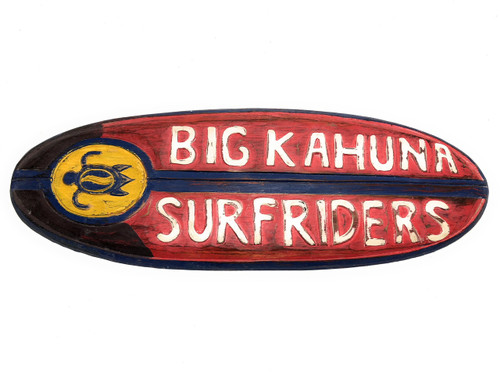 "Big Kahuna Surfriders Rustic Sign 20"" - Surfing Accents 