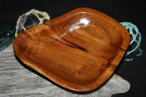 "Rustic Wooden Platter 8""X9""X2"" Teak Root | #HWA123"