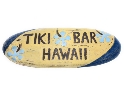 "Tiki Bar, Hawaii Rustic Surf Sign 20"" - Surfing Wall Accents 