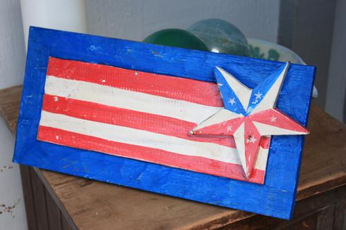 "Wooden U.S.A Flag Hanging Sign 16"" - Americana Decor | #dpt532240"
