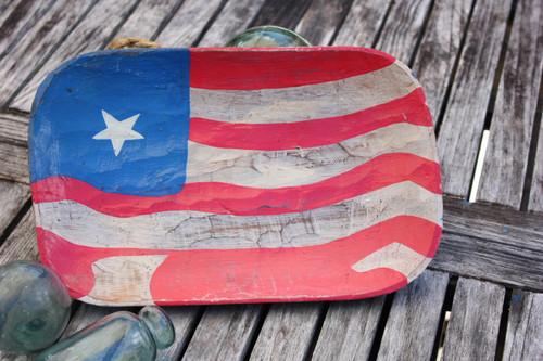 "Wooden Fruit Plate 14"" - Americana Decor | #dpt5323"
