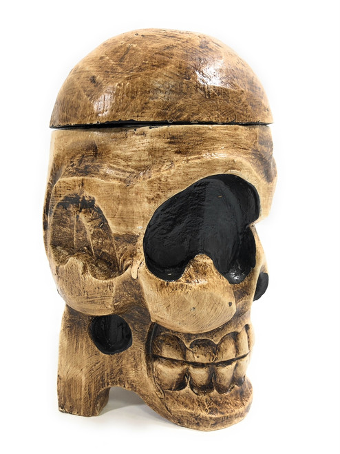 "Standing Skull 9"" X 5"" Keepsake Box - Skull Decor 