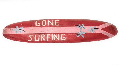 "Gone Surfing Rustic Sign 40"" - Surfing Accents 