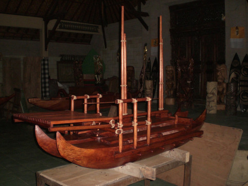 "Hokulea Replica Double Hull Canoe 80"" X 48"" Replica 