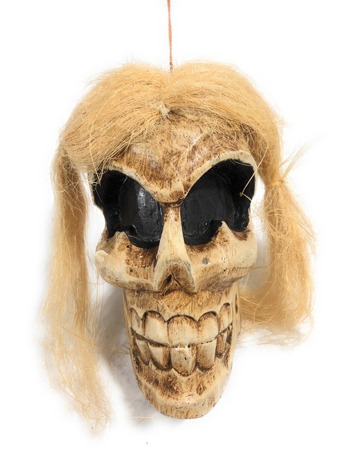 "Shrinking Head 8"" - Female Hanging Skull Head 