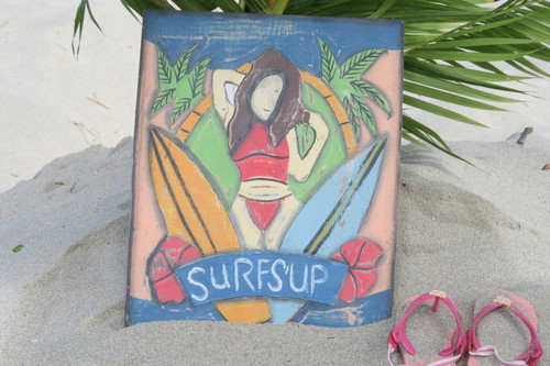 """Surf's Up Storyboard Surf Plaque 14"""" - Wall Decoration 