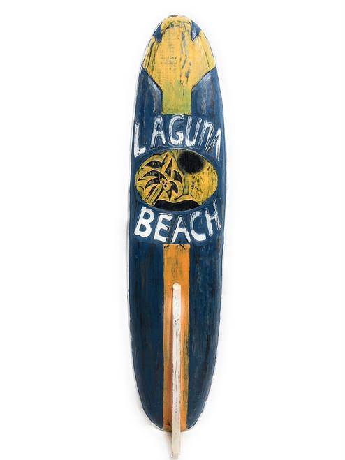 "Laguna Beach Surf Sign 40"" w/ Fin - Surfing Decor Accents   #bds12084100"