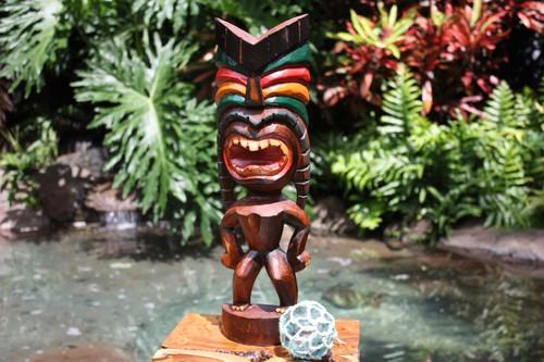 "Love Tiki God 20"" - Hand Carved - Hawaii Treasure   #bag15027a50"