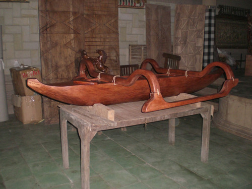Outrigger Canoe 8' Replica Architectural Decor | #bla6054