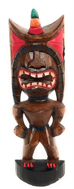 "Money Tiki God 12"" - Hand Carved - Hawaii Treasure 