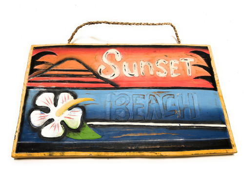 "Sunset Beach Surf Sign 15"" X 12"" - Rustic Surf Decor | #dpt522437"