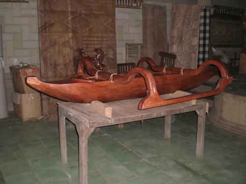 Hawaiian Outrigger Canoe 12' Architectural Decor Replica | #bla6055