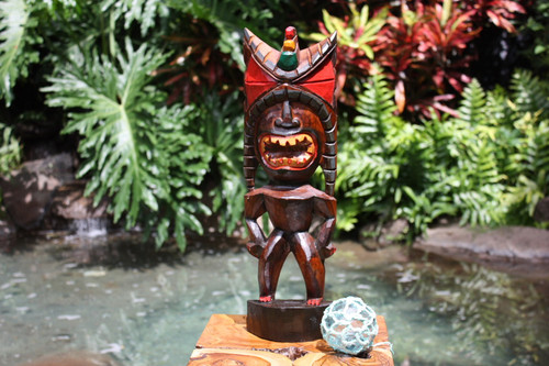 "Money Tiki God 20"" - Hand Carved - Hawaii Treasure | #bag15027b50"