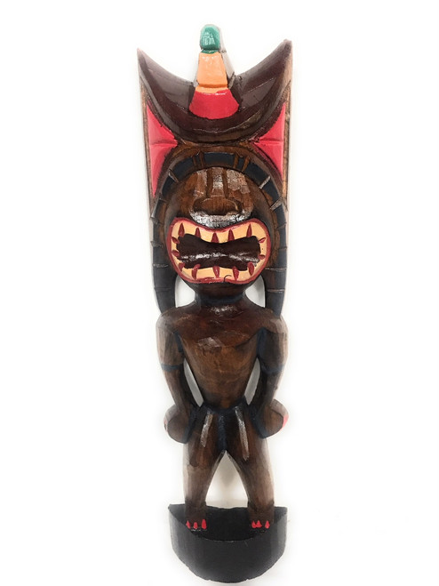 "Money Tiki God 20"" - Hand Carved - Hawaii Treasure 