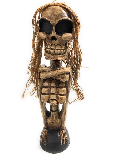 "Male Skeleton Statue 16"" - Skull Decor Halloween 