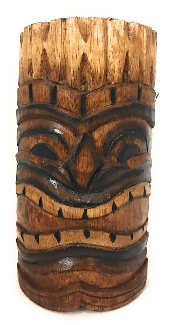 "Happy Tiki Mask 8"" - Antique Finish Hand Carved | #bag1504720"