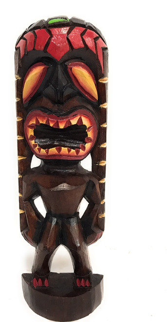 "Lucky Tiki God 12"" - Hand Carved - Hawaii Treasure 