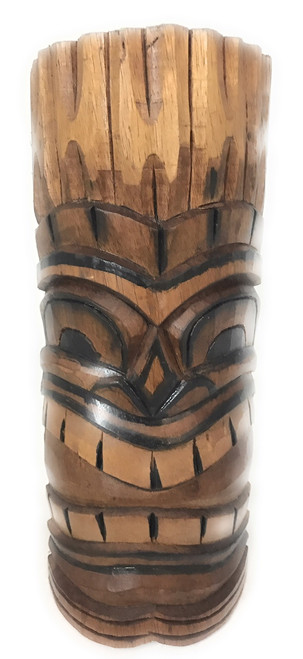 "Happy Tiki Mask 12"" - Antique Finish Hand Carved | #bag1504730"