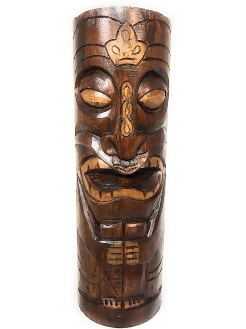 "Easter Island Da King Tiki Totem 20"" Antique Finish - Hand Carved | #dpt538550"