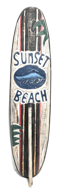 "Sunset Beach Rustic Surf Sign 40"" - Surfing Accents 