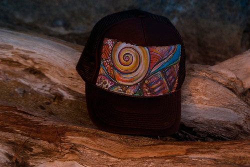 "Aloha Trucker Hats ""Coneshell"" - Hand Stitched in Hawaii 