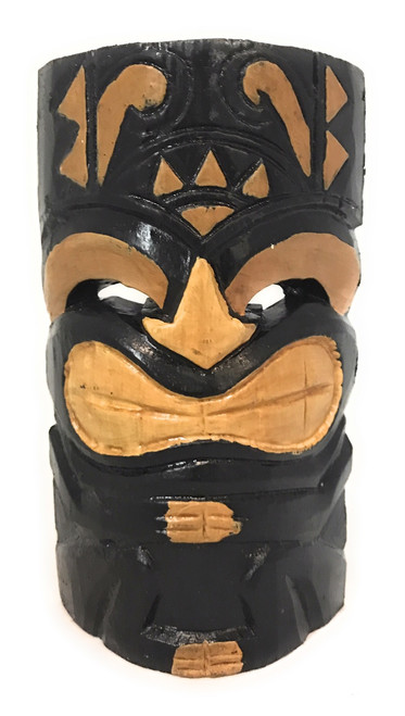 "Laughing Tiki Mask 8"" - Hand Carved Smiley Tiki 