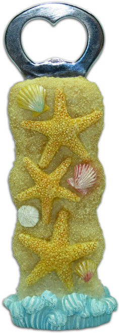 "Bottle Opener - Seashell Starfish 5.5"" - Tiki Bar 