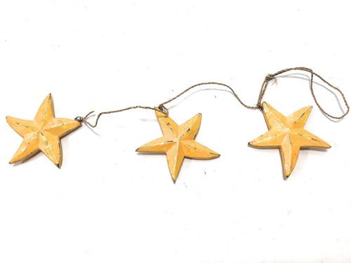 """Garland Set of 3 Starfish 12"""" - Yellow Coastal Accent   #ata18006y"""