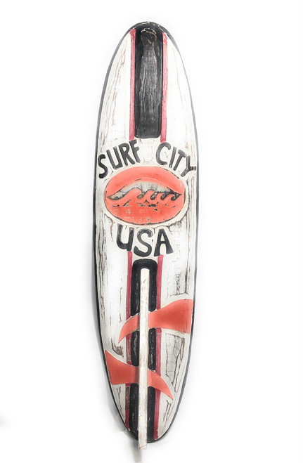 "Surf City, USA Surf Sign 40"" - Rustic Surfing Decor Accents 