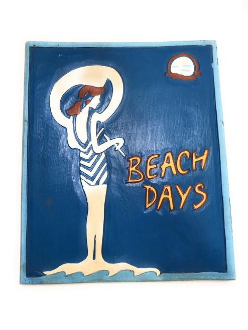 "Beach Days Sign 14"" - Vintage Style Old School Decor | #dpt523235"