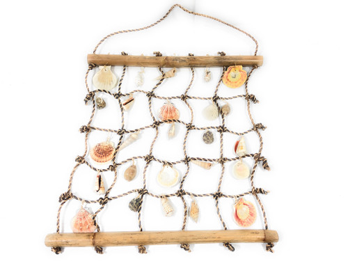 "Hanging Sea Shell Net 19"" X 17"" Wall hanging 