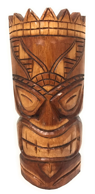 "Love Tiki Mask 12"" - Antique Finish Hand Carved 