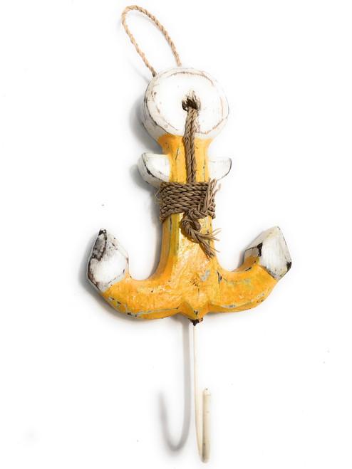 "Anchor Hanger 6"" - Coastal Yellow Decorative Accent | #Ata1800815y"