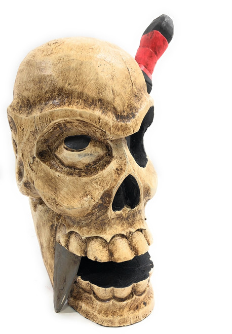 "Skull Head w/ Knife 16"" - Pop Art Skull Decor 