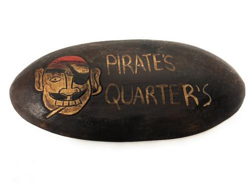 "Pirate's Quarters Sign 12"" - Pirate Decor | #kng2100630"