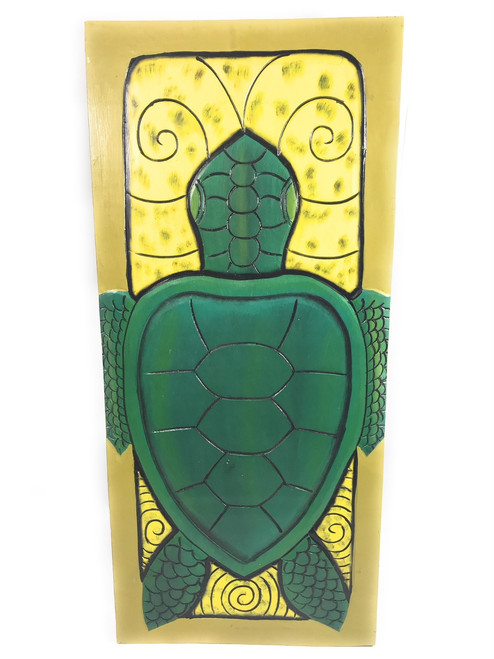 "Hawaiian Honu, Endangered Species  30"" X 15"" Wall Art Wooden Panel 