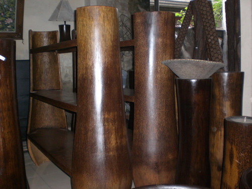 PALM TRUNK SHELVES 3 LEVELS - ISLAND DECOR