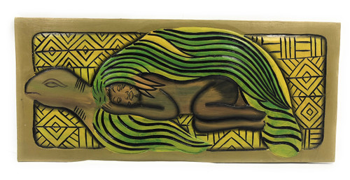 "Turtle (Honu), Sleeping Beauty 30"" X 15"" - Endangered Species Hawaiian Art 