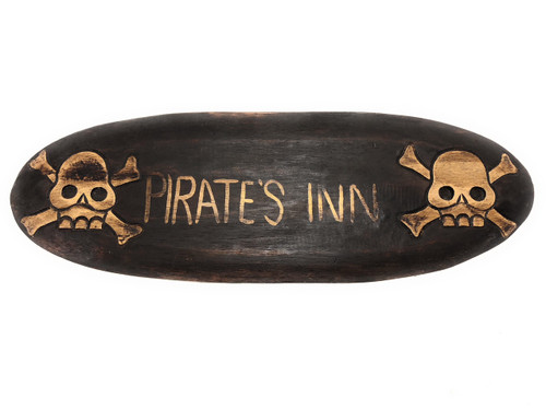 """Pirate's Inn Sign 20"""" - Pirate Decor - Hand Carved 