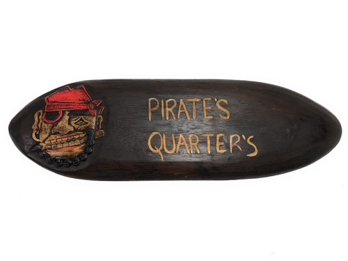 """Pirate's Quarters Sign 20"""" - Pirate Decor - Hand Carved 