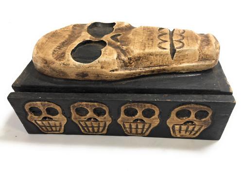 "Skull Treasure Chest Box 7"" X 5"" - Cross Bones Accessories | #kng21063"