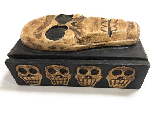 "Skull Treasure Chest Box 7"" X 5"" - Cross Bones Accessories 