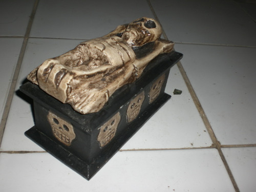 "Treasure Chest Box 8"" X 5"" - Keepsake Cross Bones Accessories | #kng21064"