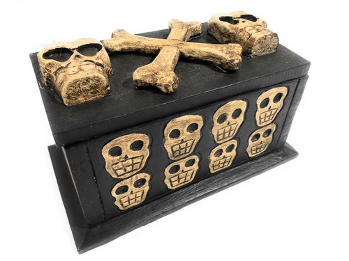 "Treasure Chest Box 10"" X 5"" - Cross Bones Accessories 