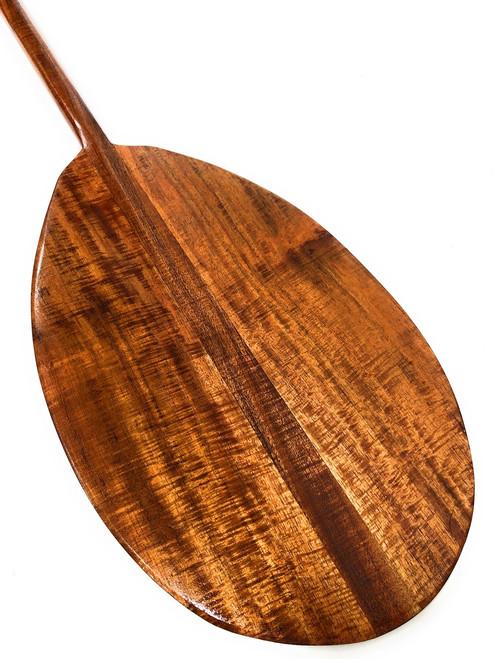 "AAA Grade Tiger Curls Koa Paddle 50"" T-Shape - Hawaiian Decoration  #koa4251"